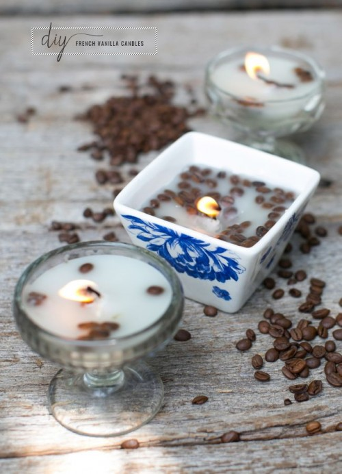 French Vanilla And Coffee Diy Candle