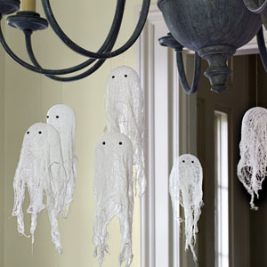 Friendly Ghosts On A Lamp