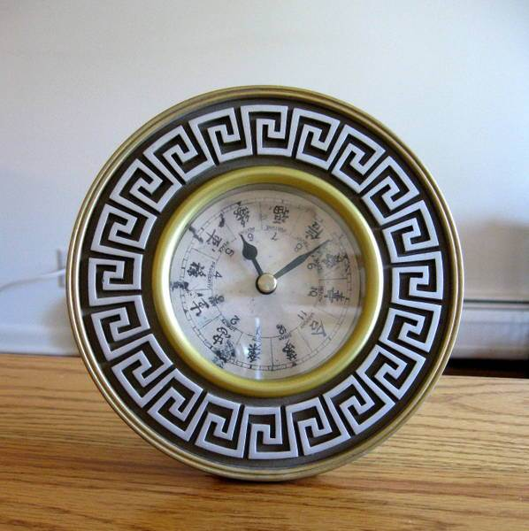 Greek clock makeover