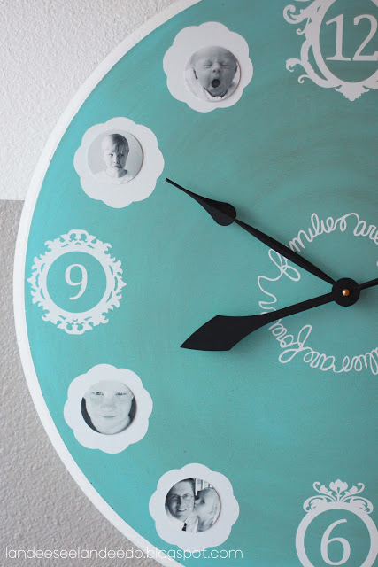photo clock makeover