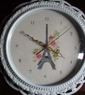 Paris inspired clock makeover