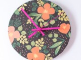 clock renovation with wrapping paper