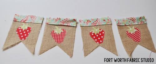 strawberry bunting (via fortworthfabricstudio)