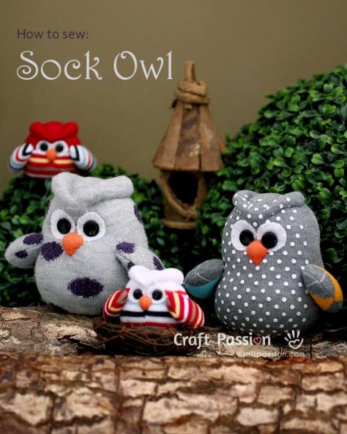 sock owl (via craftpassion)
