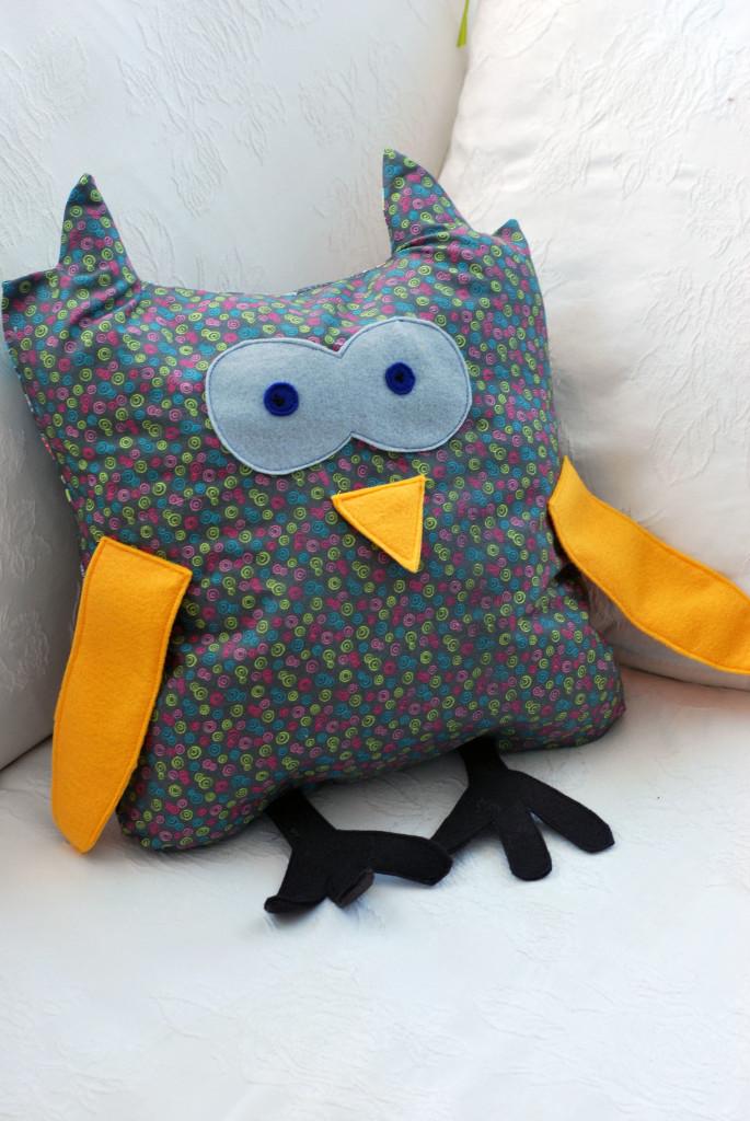 owl toy pillow