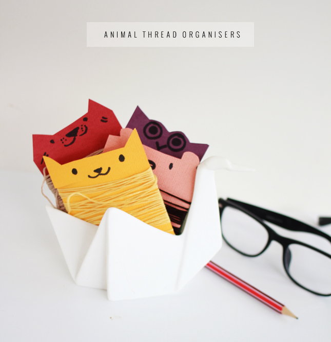 Picture Of fun and colorful diy animal thread organizers  1
