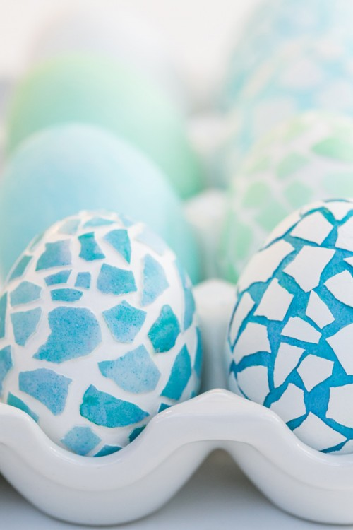 Fun And Colorful DIY Mosaic Easter Eggs