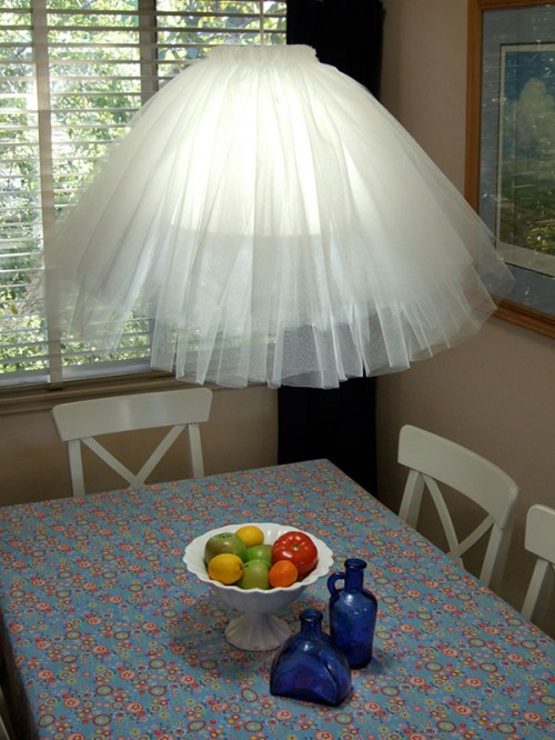 Tulle Pendant Lamp (via Craftynest)
