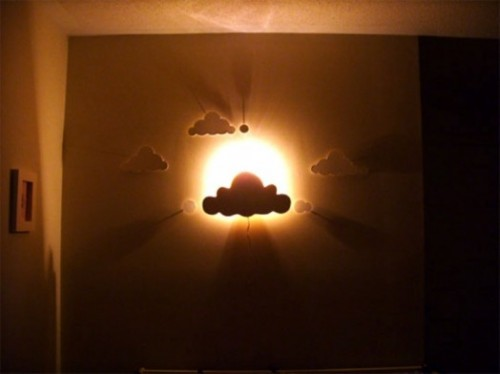 Cloud Wall Light (via Kidsomania)