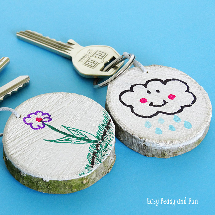 Picture Of fun and easy diy wooden key chain  1