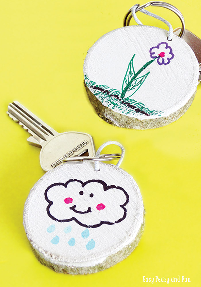 Picture Of fun and easy diy wooden key chain  3