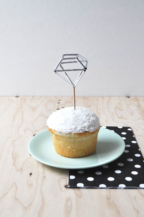 Diamond Cake Topper