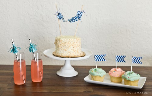 ruched cake topper (via swellmayde)
