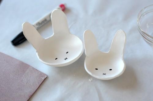 Fun Diy Clay Bunny Bowls For Easter