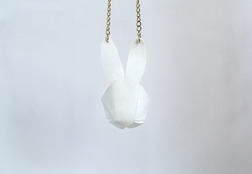 geo bunny pendant (via crafts)