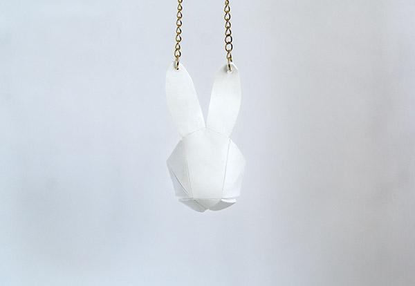 geo bunny pendant