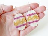 dimensional Easter eggs earrings