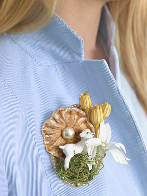 playful Easter brooch (via countryliving)
