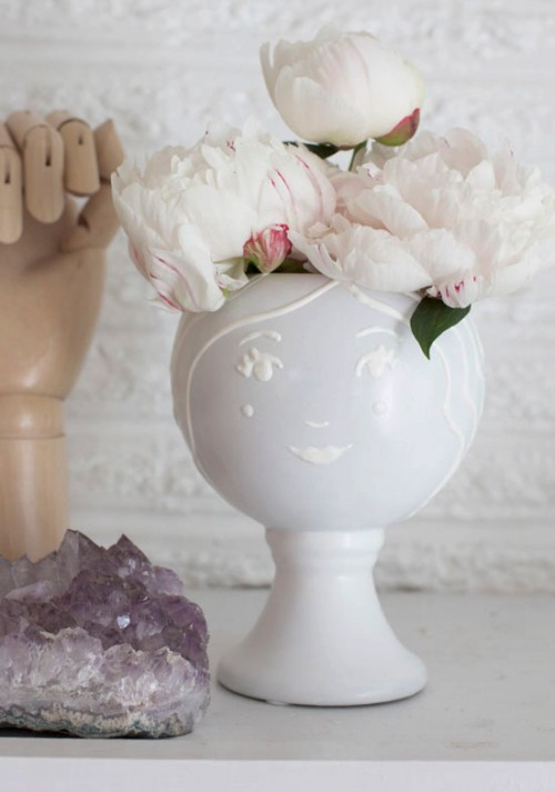 Fun DIY Face Vase With Puffy Paint