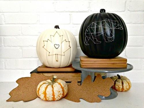 string art pumpkin (via houseologie)