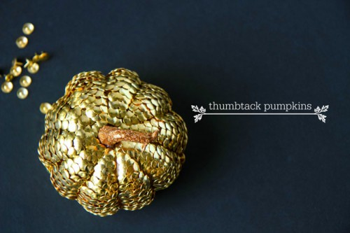 thumbtack pumpkin (via inspiration)