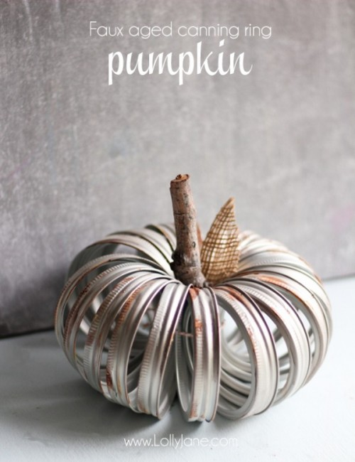 faux aged metal pumpkin (via lollyjane)