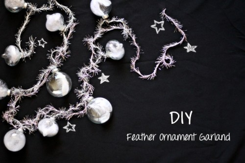 feather ornament garland (via shelterness)