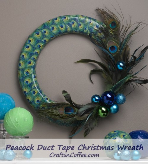 peacock wreath (via craftsncoffee)