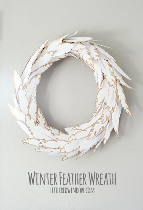 feather wreath (via littleredwindow)