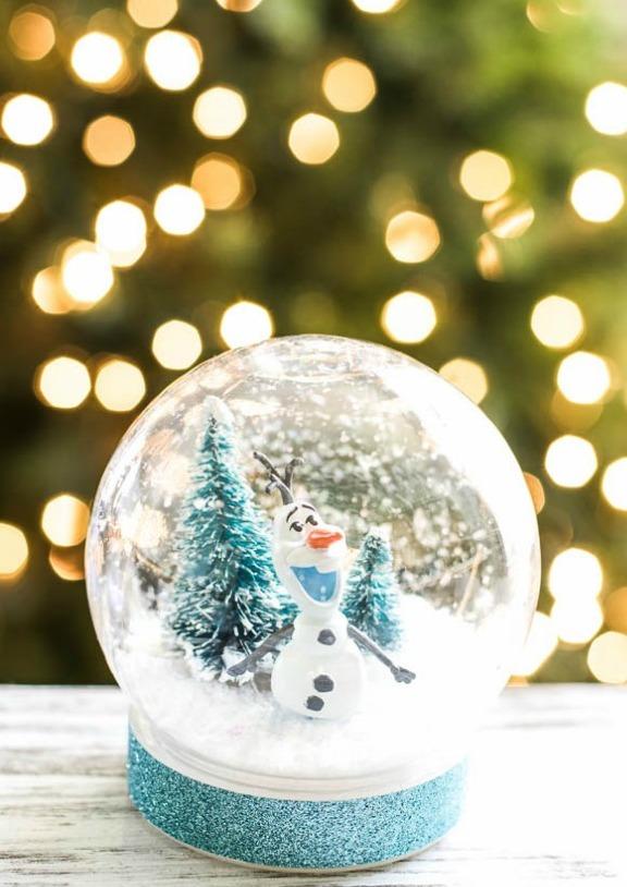 Picture Of fun diy frozen olaf snow globe  1
