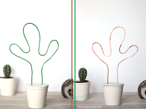 Fun DIY Neon Cactus Light With El Wire