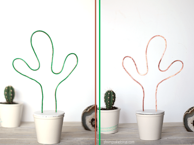 Picture Of fun diy neon cactus light with el wire  2