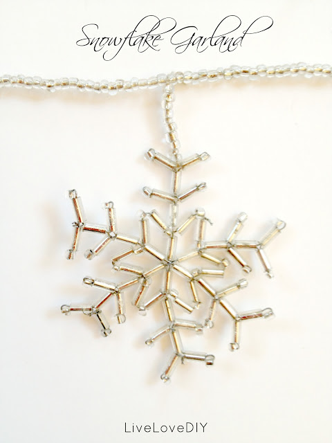 beaded snowflake garland