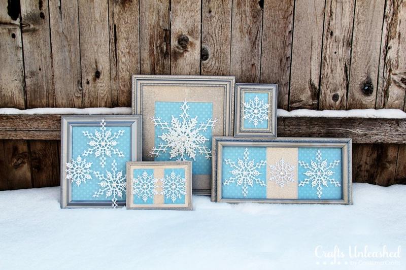snowflake craft decor