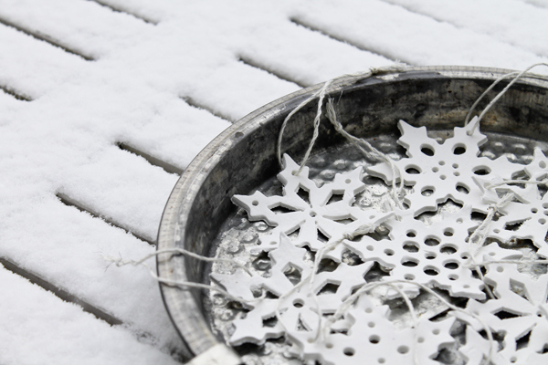 clay snowflakes