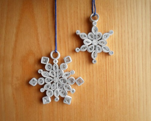 quilled snowflakes (via instructables)