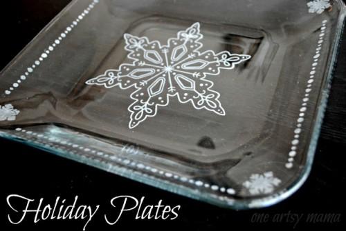 snowflake tableware (via oneartsymama)