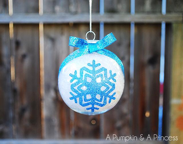glitter snowflake baubles