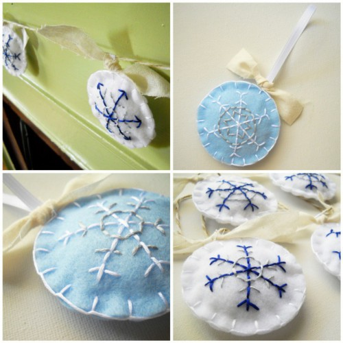 embroidered snowflakes (via whatnomints)