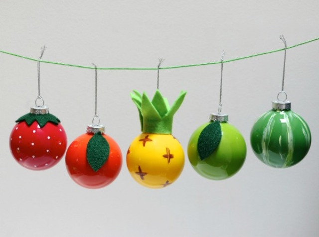 Picture Of fun diy vintage inspired fruity christmas ornaments  10