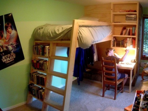 Great triple bunk bed via theownerbuildernetwork
