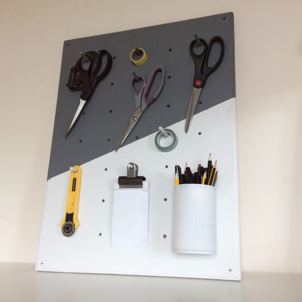 Picture Of functional and practical diy pegboard from plywood  3