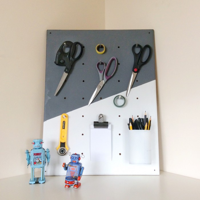 Picture Of functional and practical diy pegboard from plywood  6