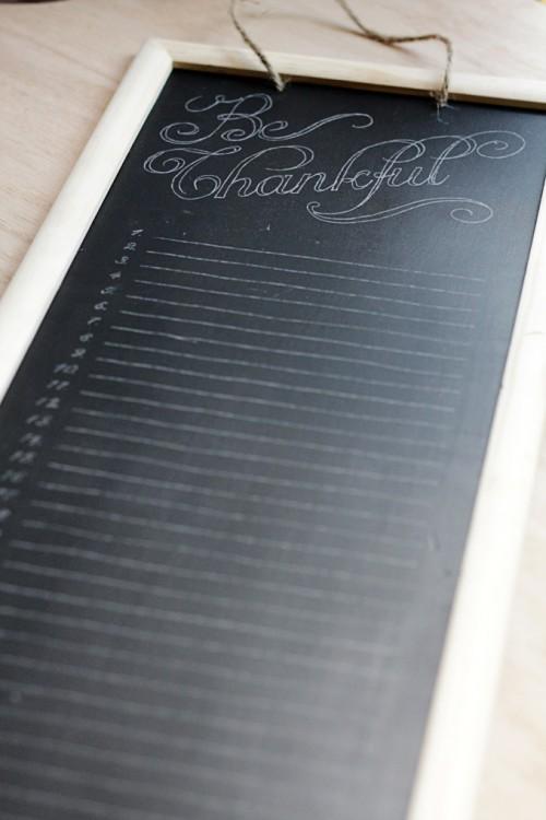 chalkboard gratitude calendar