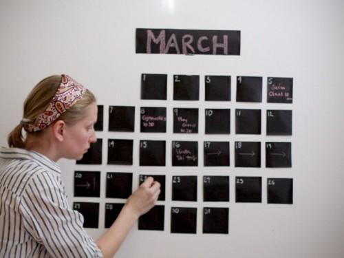 chalkboard wall calendar (via momtastic)