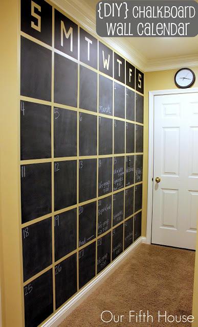 pinterest chalkboard calendar  (via ourfifthhouse)