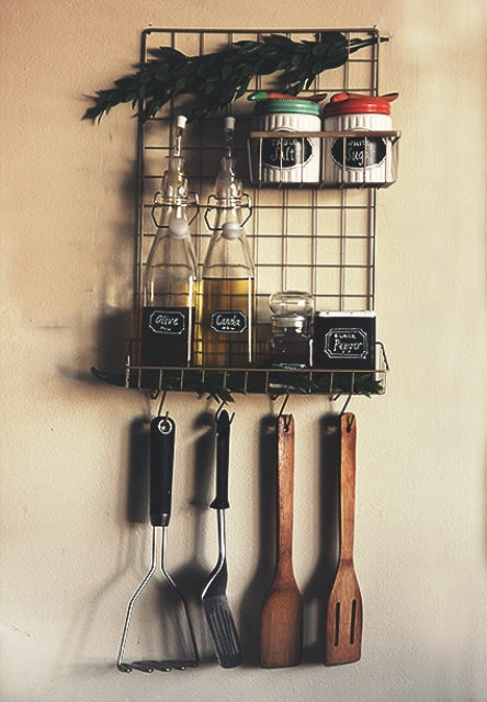 Functional DIY Metal Wire Kitchen Organizer