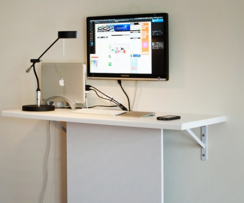 Very Functional Cheap DIY Standing Desk Shelterness qqGQZzcm
