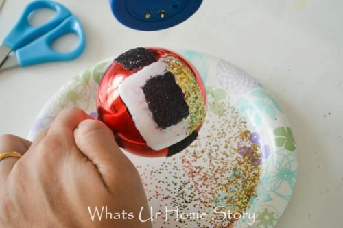 Glitter DIY Santa Belt Ornament