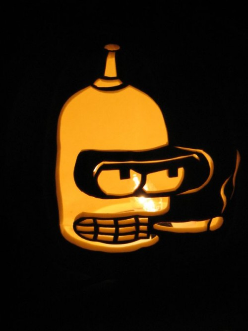Futurama Bender Pumpkin